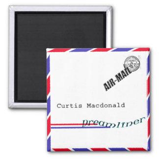 "CD Cover Art ""Dreamliner"" - Curtis Macdonald 2 Inch Square Magnet"