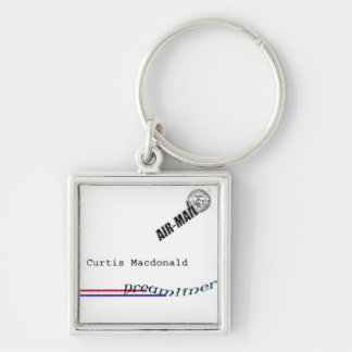 """CD Cover Art """"Dreamliner"""" Silver-Colored Square Keychain"""