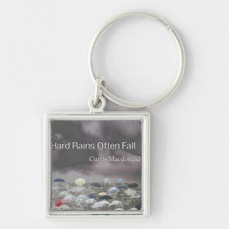 "CD Cover Art ""Hard Rains Often Fall"" Keychain"