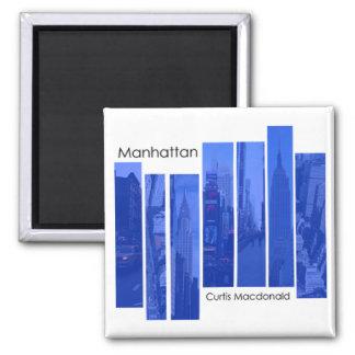 "CD Cover Art ""Manhattan"" - Curtis Macdonald 2 Inch Square Magnet"