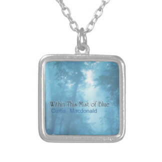"""CD Cover Art """"Within This Mist of Blue"""" Silver Plated Necklace"""