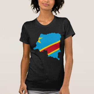 CD del mapa de la bandera de Congo Camiseta