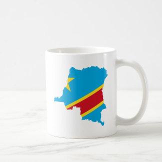 CD del mapa de la bandera de Congo Taza Clásica