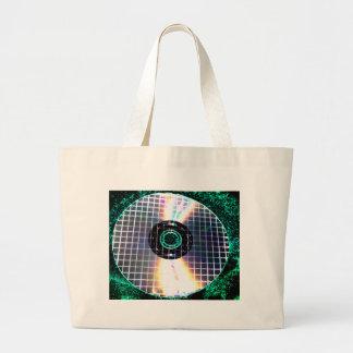 CD destrozado de la galaxia del disco Bolsas Lienzo