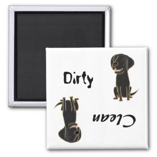 CD- Dirty Paws Flat-Coated Retriever Magnet