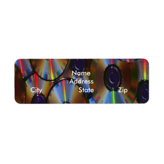 CD discs Return Address Label