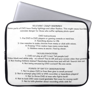 CD/DVD Instructions Laptop Computer Sleeves