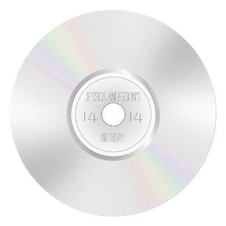 CD DVD Record Album Birthday Card