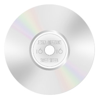 CD DVD Record Album Sweet Sixteen Card