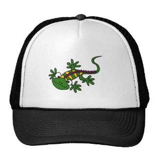 CD- Funny Colorful Iguana Design Trucker Hat