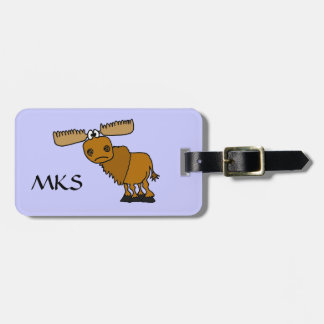 CD- Funny Moose Luggage tag