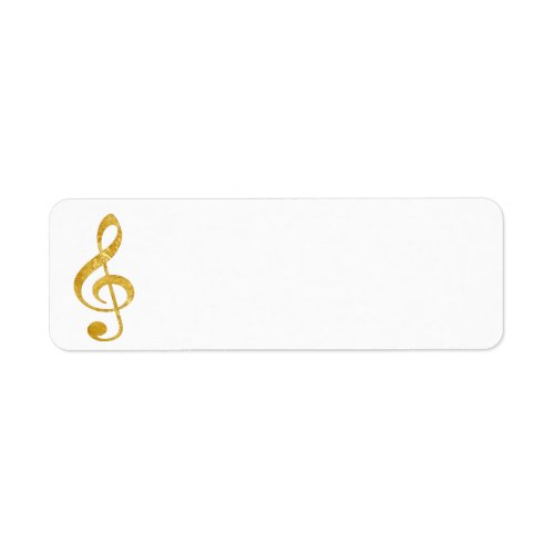 CD gold foil look clef music Label