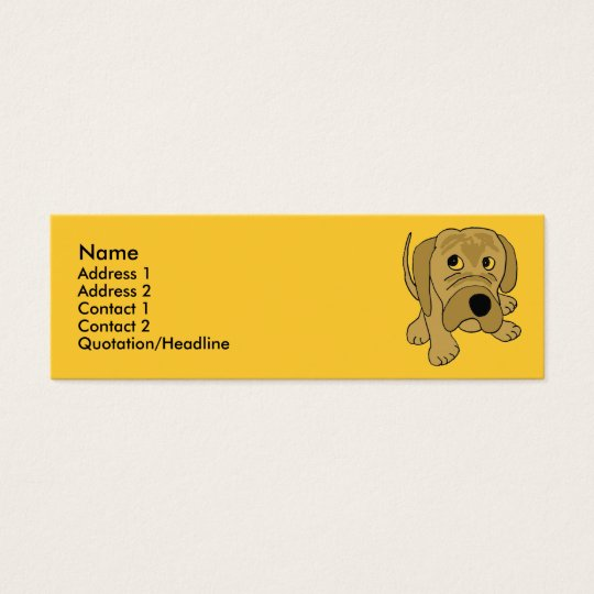 CD- Grumpy Puppy Business Card