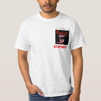 cd-logo-wt, knee copy, Stupidity T-Shirt