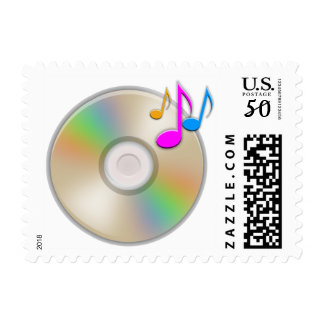 CD Music Audio Party MP3 Sound Stamp