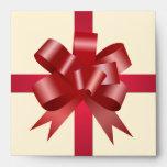 CD rojo de la crema del cuadrado del regalo de vac