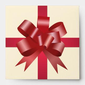 CD rojo de la crema del cuadrado del regalo de vac Sobre