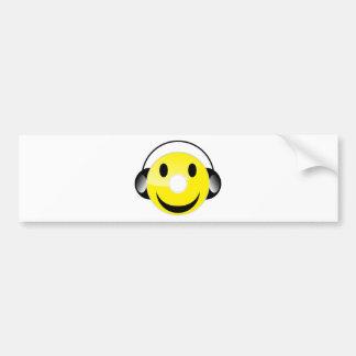CD Smiley Bumper Sticker