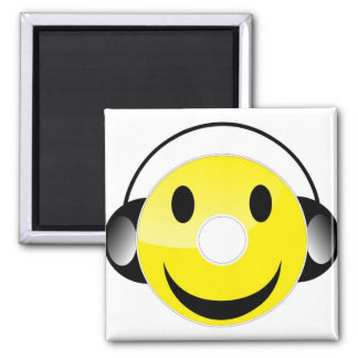 CD Smiley 2 Inch Square Magnet