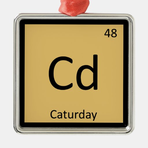 Cd - tabla periódica de la química de los gatos de adorno para reyes