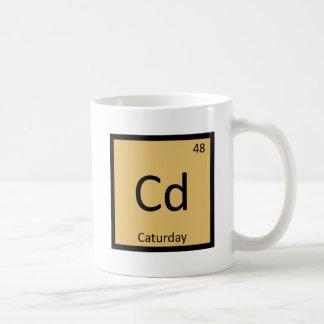 Cd - tabla periódica de la química de los gatos de taza