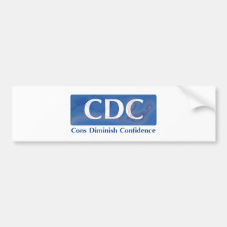 CDC - Cons Diminish Confidence Bumper Sticker