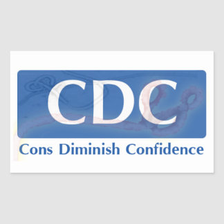 CDC - Cons Diminish Confidence Sticker