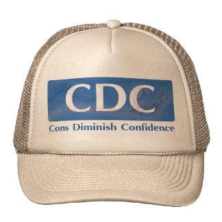 CDC - El contra disminuye el gorra de la confianza
