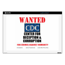 "CDC Whistleblower Truth Anti-Vaccine SIDS VAXXED 17"" Laptop Skins"