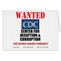 CDC Whistleblower Truth Anti-Vaccine SIDS VAXXED Card