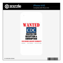 CDC Whistleblower Truth Anti-Vaccine SIDS VAXXED iPhone 4S Decal