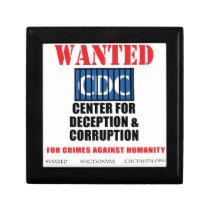 CDC Whistleblower Truth Anti-Vaccine SIDS VAXXED Jewelry Box