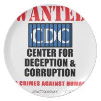 CDC Whistleblower Truth Anti-Vaccine SIDS VAXXED Melamine Plate