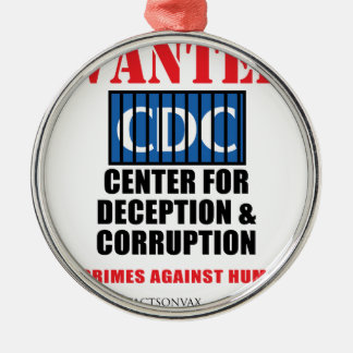 CDC Whistleblower Truth Anti-Vaccine SIDS VAXXED Metal Ornament
