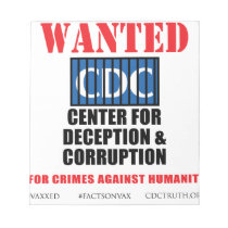 CDC Whistleblower Truth Anti-Vaccine SIDS VAXXED Notepad