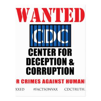 CDC Whistleblower Truth Anti-Vaccine SIDS VAXXED Postcard