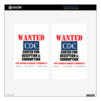 CDC Whistleblower Truth Anti-Vaccine SIDS VAXXED Skins For Kindle Fire