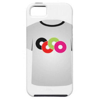Cdes de la música de la plantilla de la camiseta iPhone 5 Case-Mate coberturas