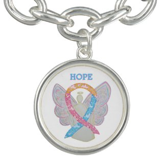 CDH Awareness Ribbon Angel Charm Bracelet