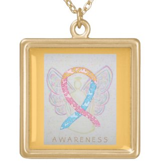 CDH Awareness Ribbon Angel Jewelry Necklace