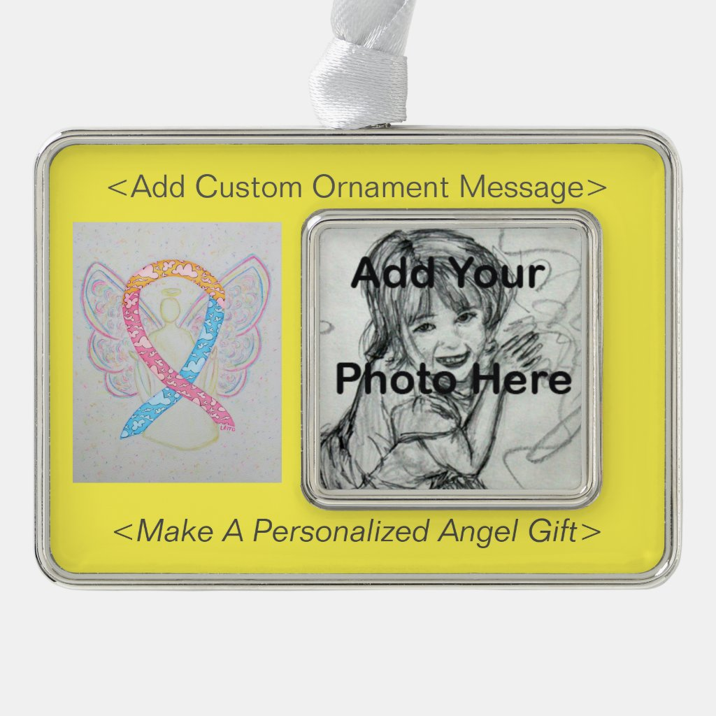 CDH Awareness Ribbon Angel Ornament