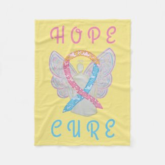 CDH Awareness Ribbon Angel Soft Fleece Blankets