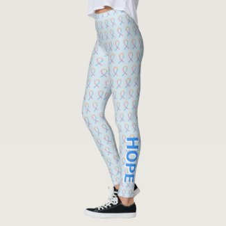 CDH Awareness Ribbon Hope Cure Custom Art Leggings
