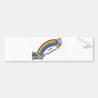 CDH Rainbows Bumper Sticker Car Bumper Sticker