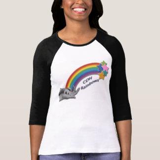 CDH Rainbows Fitted  Ladies 3/4 Sleeve Raglan T-Shirt