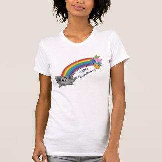 CDH Rainbows Fitted  Ladies Sheer V-Neck T-Shirt