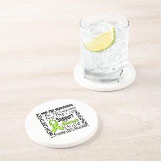 CDKL5 Awareness I Wear Lime Green Ribbon Coasters
