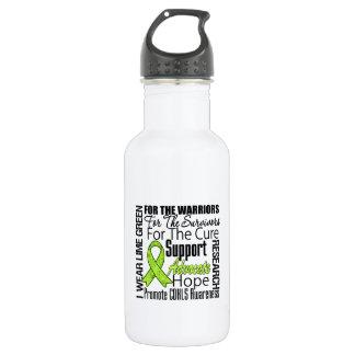 CDKL5 Awareness I Wear Lime Green Ribbon 18oz Water Bottle
