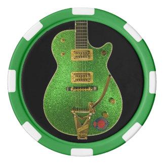 CDO-GREEN GUITAR- Poker Chips