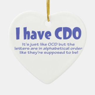 CDO Double-Sided HEART CERAMIC CHRISTMAS ORNAMENT